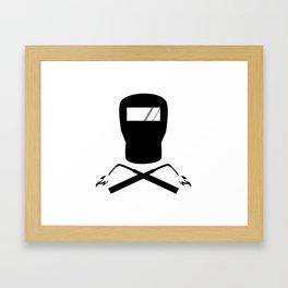 Jolly Welder Framed Art Print