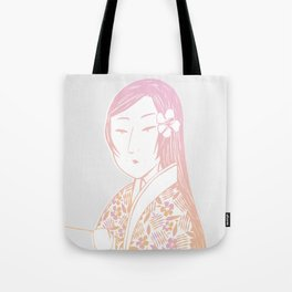 Surfing Geisha Tote Bag