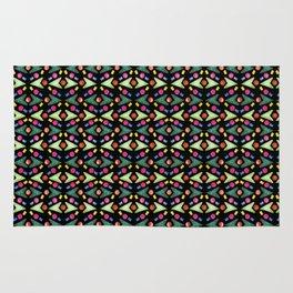 Necklaces Rubber Stamps Pattern Design (Black Background) Rug