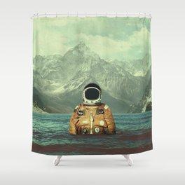 Glacier Spaceman Shower Curtain