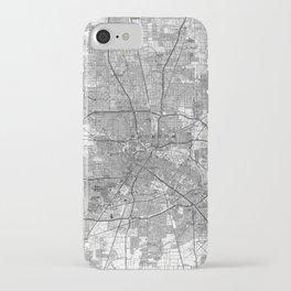 Houston Texas Map (1992) BW iPhone Case