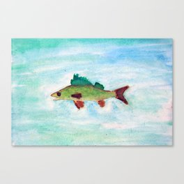 The Happy Walleye Canvas Print