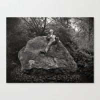 oscar wilde Canvas Prints featuring Oscar Wilde by Romeo & Rebeccah
