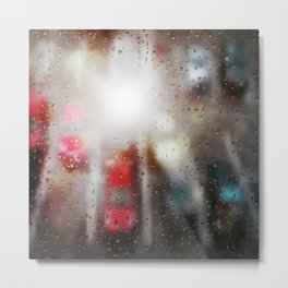 Raindrops on the window  Metal Print
