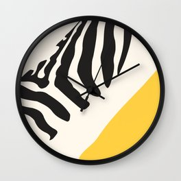 Zebra Abstract Wall Clock