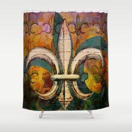 Patricia's Fleur de Lis Shower Curtain