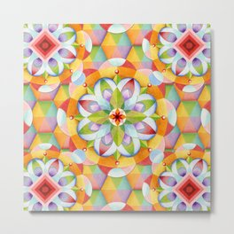 Big Top Rainbow Mandala Metal Print