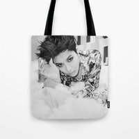shinee Tote Bags featuring Taemin - SHINee by Felicia