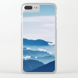 Blue On The Mountains Clear iPhone Case