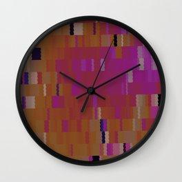 Bubblegum Pink Digi Fractal Wall Clock