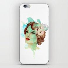retro woman 2 iPhone Skin
