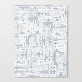 Grid in Grey Canvas Print