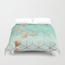Soft Gradient Aquamarine Duvet Cover