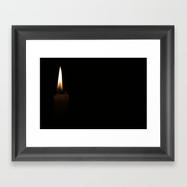 Flame Framed Art Print