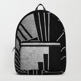 Art deco design - silver glitz Backpack