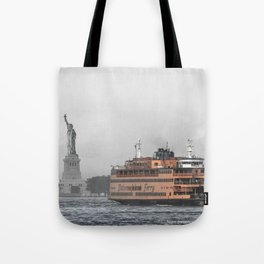 Liberty & The Boat Tote Bag