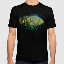 """""""Goliath Grouper"""" by Amber Marine ~ Watercolor Painting, (Copyright 2015) T-shirt"""