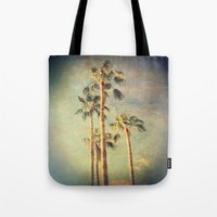 palms Tote Bags featuring palms by Sylvia Cook Photography