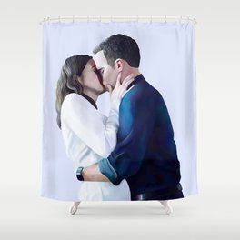 FitzSimmons Kiss Shower Curtain