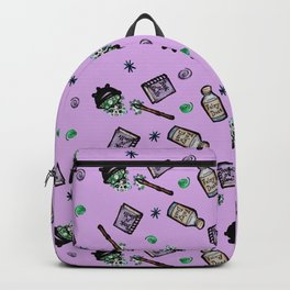 Purple Witches Brew & Fairy Dust Pattern Backpack