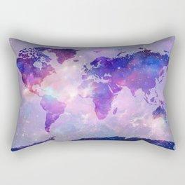 world map galaxy Rectangular Pillow