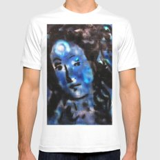 VENUS IN BLUE Mens Fitted Tee MEDIUM White