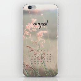 August 2017 Calendar iPhone Skin