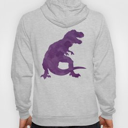 Watercolor Dinosaur Silhouette Pattern Purple Pink Green Hoody