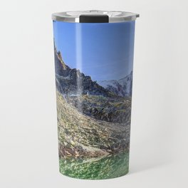 Mont Blanc Glacier Lake Travel Mug