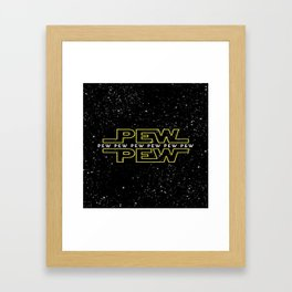 Pew Pew Stars Wars Framed Art Print