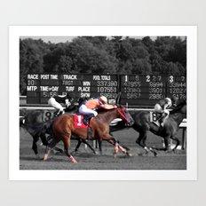 Race horses Art Print