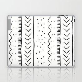 Moroccan Stripe in Cream and Black Laptop & iPad Skin