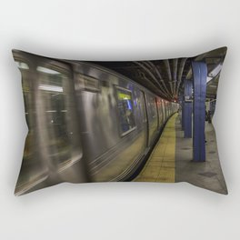 Late night train rides. Rectangular Pillow