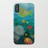 mermaids iPhone & iPod Cases featuring Mermaids by Caroline Krzykowiak