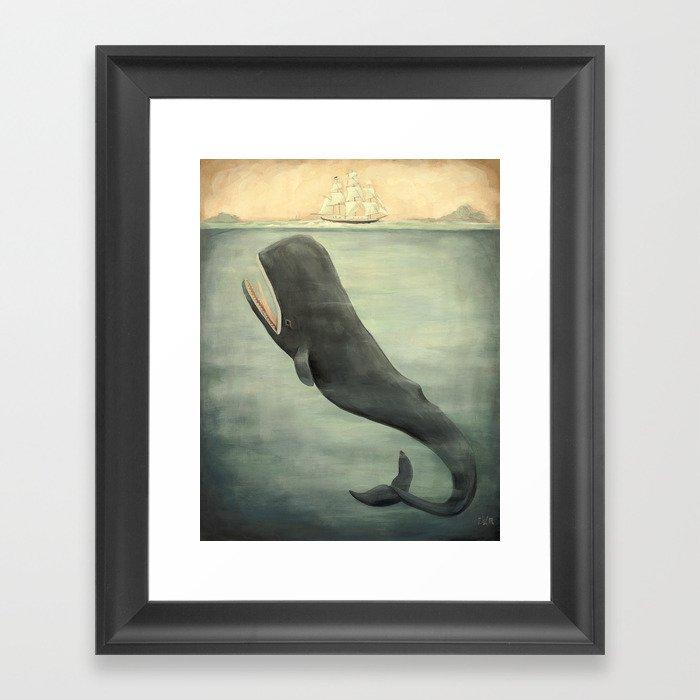 Leviathan Below Gerahmter Kunstdruck