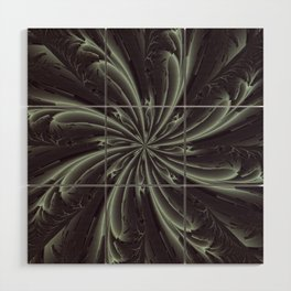 Out of the Darkness Fractal Bloom Wood Wall Art