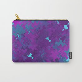 Pink, Purple, and Blue Waves Carry-All Pouch