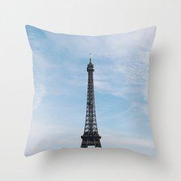 Blue Skies in Paris Throw Pillow