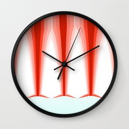 Hot Sun Mop. Wall Clock