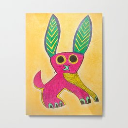 Rabbit alebrije Metal Print