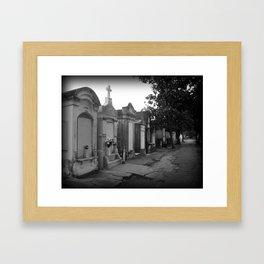 Garden District Cemetary Framed Art Print