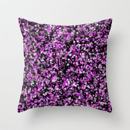 Pink, White and Black bubble texture Throw Pillow