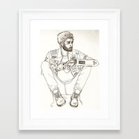 zayn Framed Art Prints featuring Zayn by harrydoodles