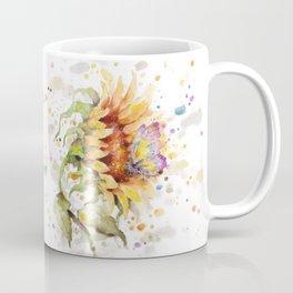 Hand In Hand (Butterfly & Sunflower) Coffee Mug