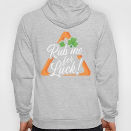 St Patrick's Day, Rub Me For Luck Billiard Triangle Rack Billiard King 8Ball Pool Snooker Hoody