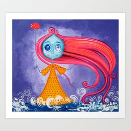 Windy - The Girl Of The Wind Art Print