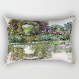 """Claude Monet, """" Flowering Arches """" Rectangular Pillow"""