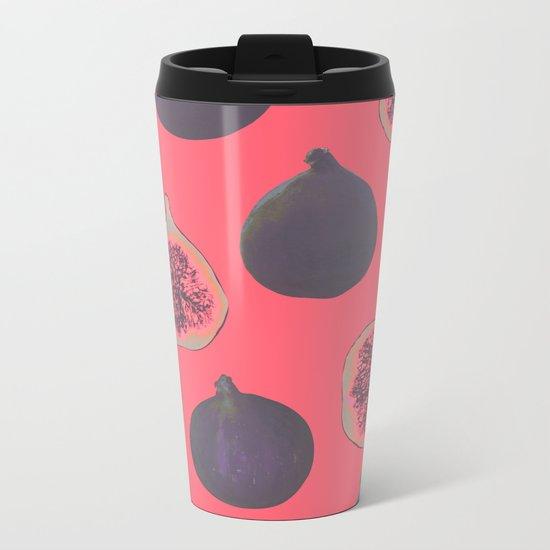 Fig pattern Metal Travel Mug