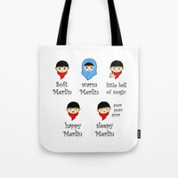 merlin Tote Bags featuring Soft Merlin, Warm Merlin... by sirwatson