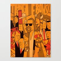 lebowski Canvas Prints featuring The Big Lebowski by Ale Giorgini